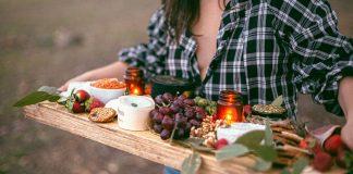 zena so zdravym jedlom